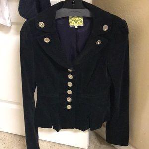 Floreat Black military British style Blazer