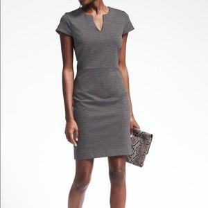 Banana Republic Ponte Dress Grey Size 0