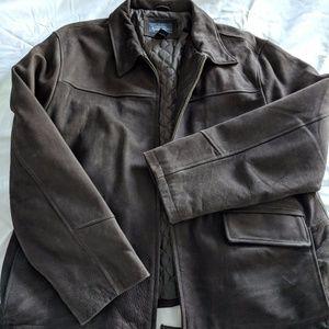 Men's Cherokee Dark Brown Leather Jacket