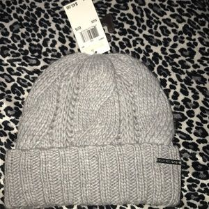 Michael Kors gray cable knit beanie