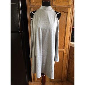 Cold Shoulder Shirt Dress by Boohoo Sz 14