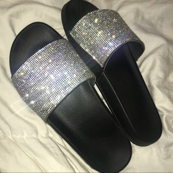 0ff0f6719fd Rhinestone Sparkly Slides. M 5a125141c284564a100be6dd. Other Shoes ...