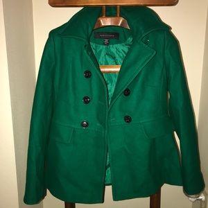 o 💚 Beautiful Kelly Green APOSTROPHE Pea coat M