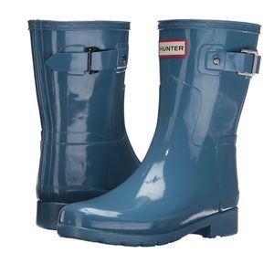 NIB! Hunter teal rain boots