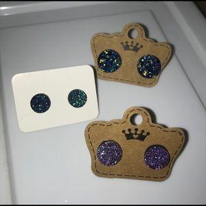 Jewelry - 3 PAIRS OF DRUZY EARRINGS