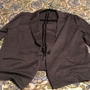 Classic one button grey blazer from Maurice's, XL