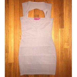 Boohoo lavender bandage dress