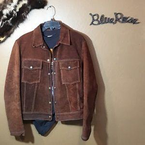 Rad vintage brown suede jacket