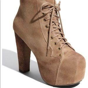 Jeffrey Campbell 'Lita' Taupe Suede - Size 6