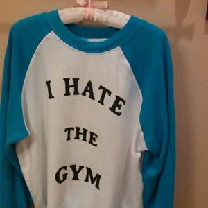 WILDFOX Women's 'I Hate the Gym' printed Pullover.