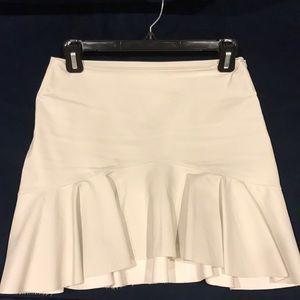 Zara ivory faux leather mini skirt