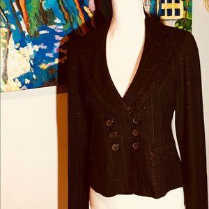 Nanette Lepore Brown Wool Blend Blazer 8 EUC