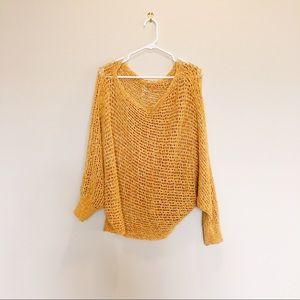 Free People dark yellow pullover sweater