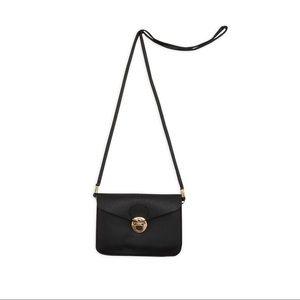 Handbags - Faux Leather Black Crossbody Envelope Bag
