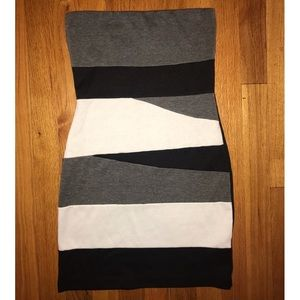 Forever 21 monochrome colorblock mini dress