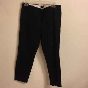 JCrew black city fit trouser