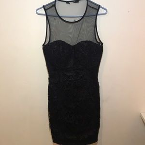 Little black dress lace sheer
