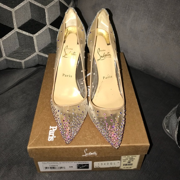31db27ddf54a Christian Louboutin Shoes - Christian Louboutin Follies Strass 100 size 9 US