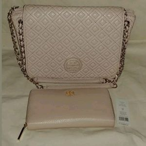 Tory Burch Quilted Marion Bag/Continental Wallet