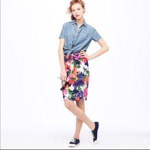 J.Crew garden floral No. 2 pencil skirt Sz 4 EUC