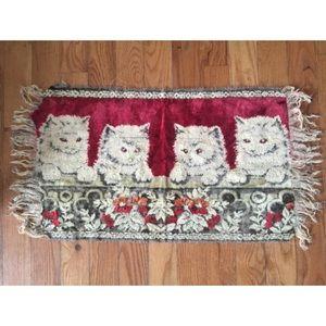 Vintage Cat Rug UNIQUE