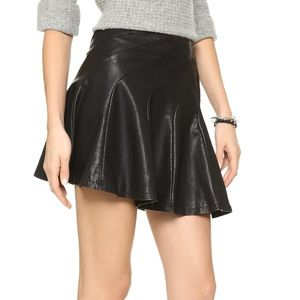 Free People Faux Leather Skirt Size 8