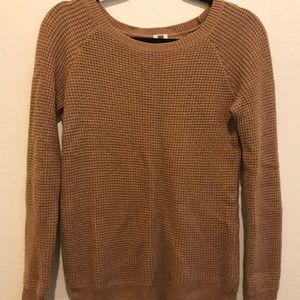 J.Crew waffle knit camel sweater
