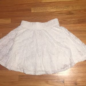 White lace hollister skirt