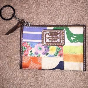 Authentic Coach zipper coin pouch