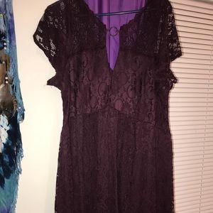 Torrid Burgundy lace dress