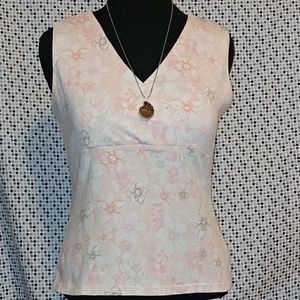 Peachy Floral Sleeveless Camisole