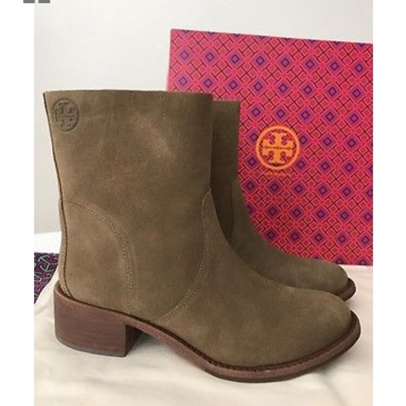 93e9f044004c2 Tory Burch Siena Suede booties size 10. M 5a125695f09282a8140c1136