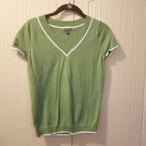 Vintage Ann Taylor Tennis Sweater - Green - S