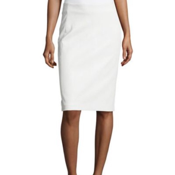 2a15f4dbd0f9 Diane Von Furstenberg Skirts | Dvf White Leather Pencil Skirt | Poshmark