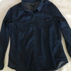 Old Navy Chambray Long Sleeve Size Large