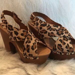 Leopard Clogs