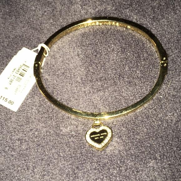 Michael Kors Jewelry Bangle Bracelet With A Heart Charm Poshmark
