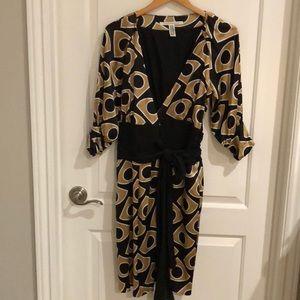 Diane Von Furstenberg silk wrap dress.