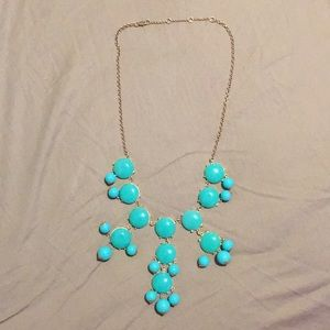 Jewelry - NEVER WORN - Teal bubble necklace on a gold chain