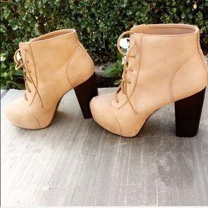 H&M platform heels lace up