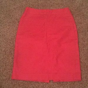 J. crew bright pink No. 2 pencil skirt.