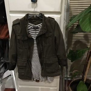 Levi's olive green jacket with with wool