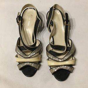 Miu miu sequin heels black