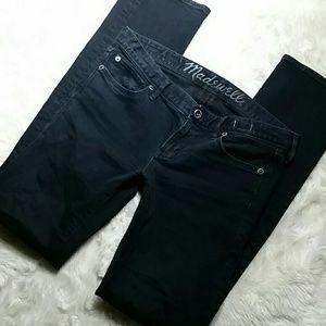 Madewell Rail Straight Leg Stretch Jeans Size 28