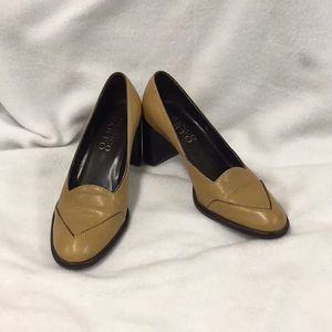 Franco Sarto Brown Textured High Heels Size 7