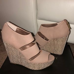 Tan Wedges by Sole Society