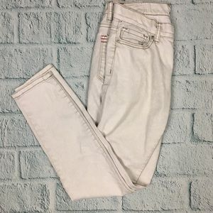 BDG Twig Mid Rise Skinny Off White Ankle Jeans