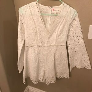 Incredible long sleeved Anthropologie lace romper