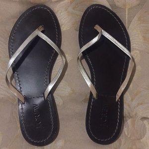 J. Crew silver strap sandal