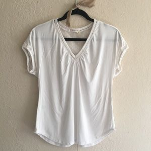 Anthropologie Meadow Rue Casual Cream Top